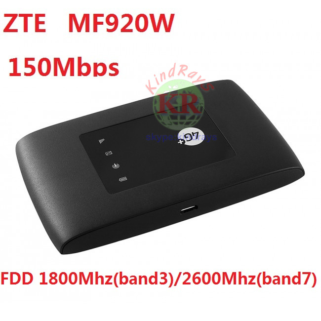 Unlocked ZTE MF920 MF920W 4G wifi router with SIM card slot 150Mbps router PK MF910 hot sale new original unlock 150mbps zte mf910 4g wifi router with sim card slot support lte fdd b3 b7 b8 b20