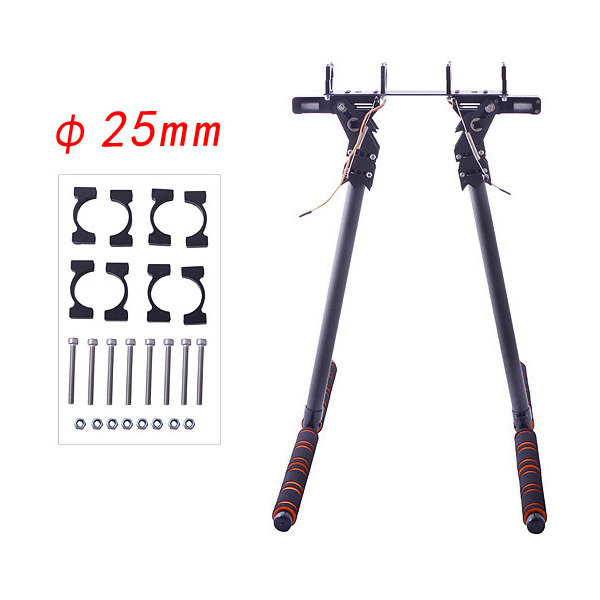 25mm Pipe Clamp HJ-1100P Carbon Fiber Retractable Landing Gear Skid Set for DJI S800/S800 EVO Multicopters