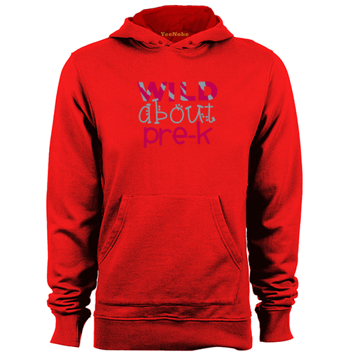 Wild About Pre-K Mens & Womens Long Sleeve Hoodies Sweatshirts