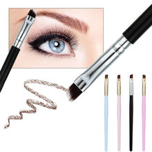 New Fashion Makeup Brush Eyebrow Flat Angled Brushes Foundation Eyebrow Eyeliner Blush pincel maquiagem B1(China)