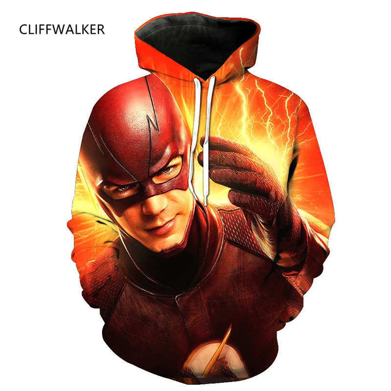 Drop Shipping New Super Hero Flash Man 3D Print Hoodies Casual For Mens Womens Spring Autumn Sweatshirt Hooded Pullover Tops