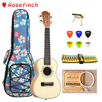 21 Inch Ukulele Mahogany Package with Bag Strap 6 Picks for Ukulele Concert 4 Strings Mini Hawaii Guitar Accessories UK2101A