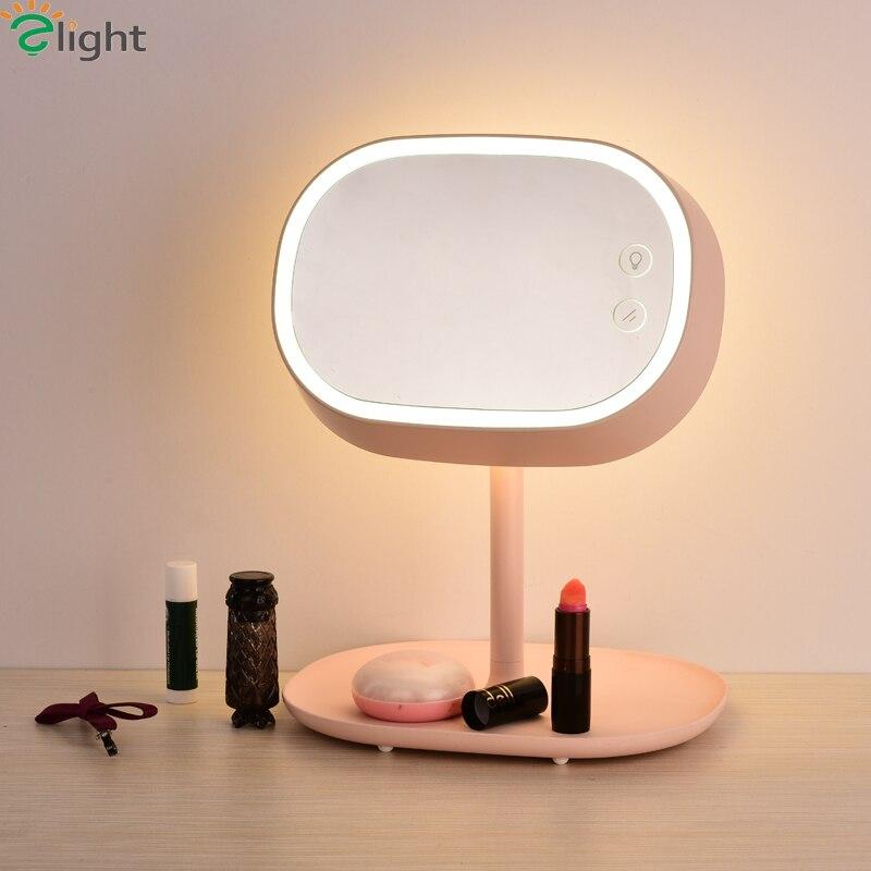 Modern Simple Rotatable Mirror Led Table Lamp Creative Bedroom Led Table Light Table Lights Novelty Led Table Lighting Fixtures