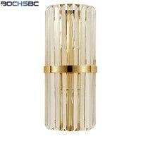 BOCHSBC творчески Кристалл Бра с железной основе светодиодные фонари для Спальня Гостиная кабинет Освещение для обеденной лампа