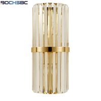 BOCHSBC Creative Fashion Crystal Wall Lamps with Iron Base Led Lights for Bedroom Living Room Study Room Dining Room Lights Lamp