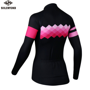 Siilenyond 2019 Pro Women Winter Thermal Cycling Jersey Long Sleeve Mountain Bike Cycling Clothing MTB Bicycle Cycling Clothes 1