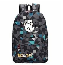 Игры Neko Atsume Kitty Коллектор Cute Cat Школа Сумка Рюкзак Новый Модный  Путешествовать  Спорт  Уличный  Кемпинг  Модный  Путешествовать  Спорт  Уличный  Кемпинг
