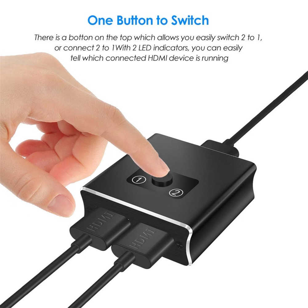 2020 Navceker 4K Switch HDMI 2.0 Mini HDMI Bi-Direção Interruptor Suporte HDMI 2.0 HDCP Passar 2.2 a para XBox PS4 Apple TV HDTV