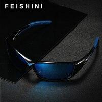 FEISHINI бренд желтые линзы пластмассовые солнцезащитные очки для мужчин спортивные поляризованные ночное видение UVB Мода вождения очки для же...