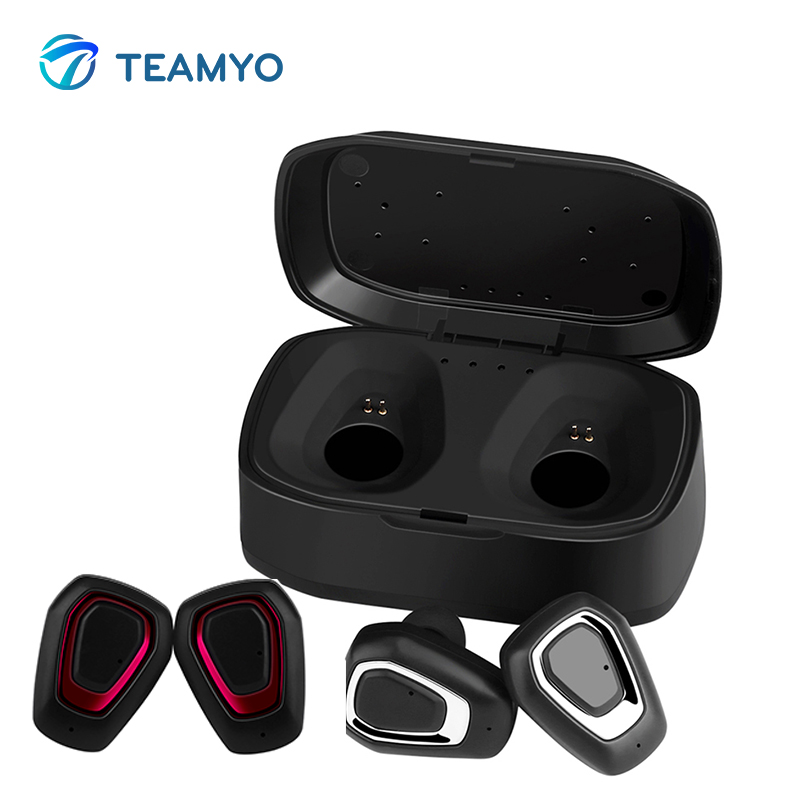 Teamyo K8 Bluetooth Headphone Mini Hidden Earpods Wireless Earphones with Mic Stereo Headset For iphone xiaomi with charge box new dacom carkit mini bluetooth headset wireless earphone mic with usb car charger for iphone airpods android huawei smartphone