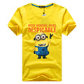 New 2016 Cartoon T Shirts Anime Figure Casual Short Sleeve T-shirt Lovely Minions Clothes Minion Costume T-shirts MAPP04076