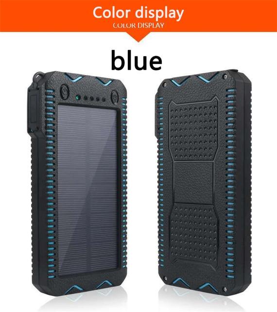 Liitokala-20000 Batteries solaires portables | MAH, chargeur externe 2 iPhone, double USB