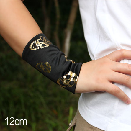 Летний стиль женские Мода плед полосы татуировки руку рукав крышка шрамы без пальцев солнцезащитный крем Перчатки наручные локоть рукава