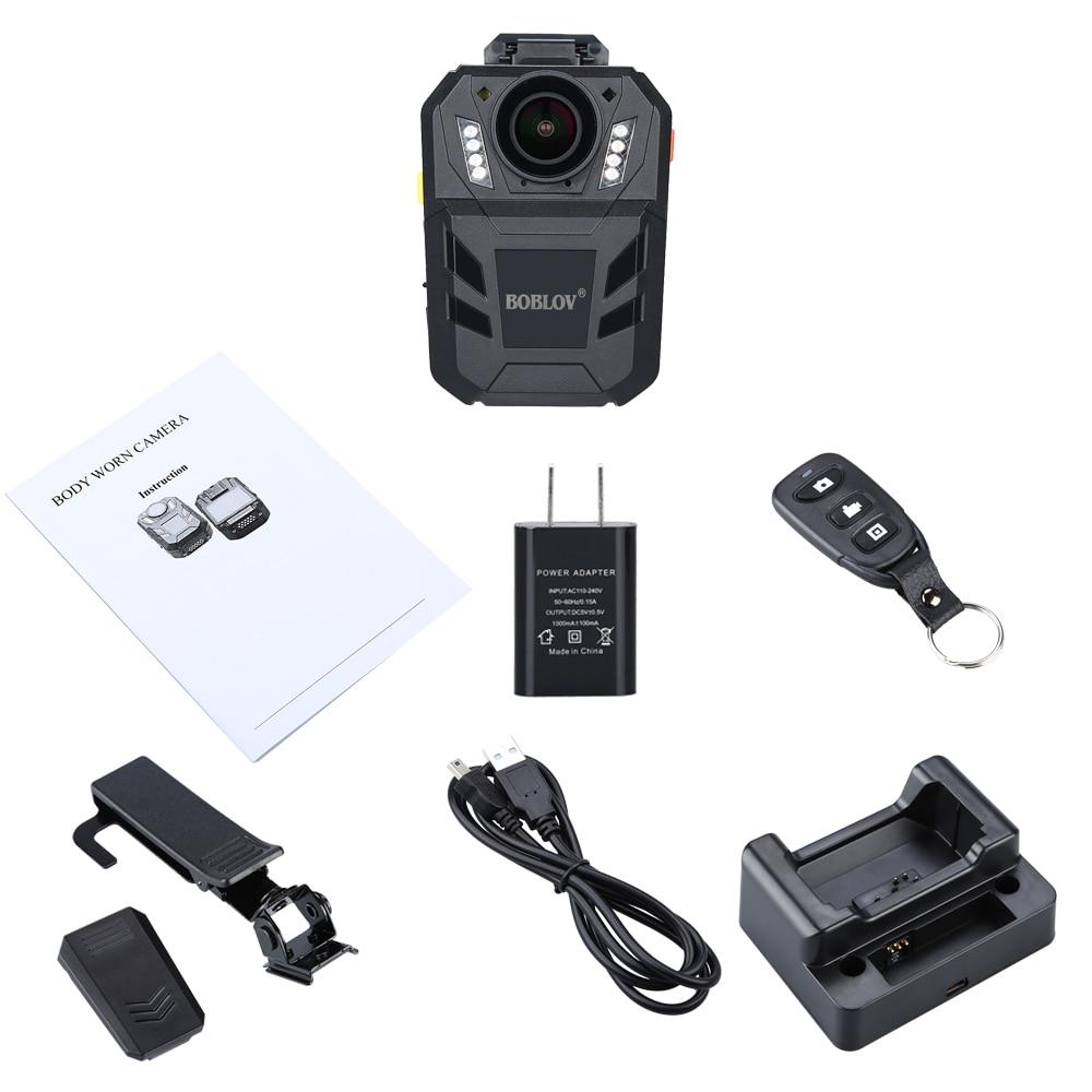 BOBLOV WA7 D Ambarella A7 32MP HD 1296 P носимых тела Камера безопасности  Видео Регистраторы 4000 мАч Батарея с удаленным Управление купить на  AliExpress