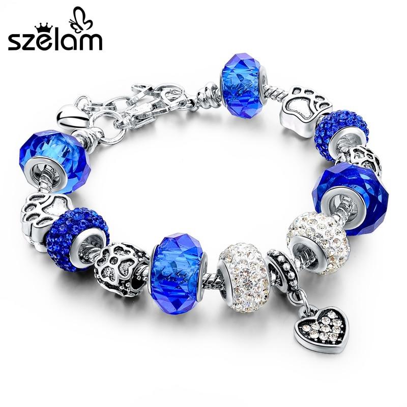 f562b2cf5fca ... pulsera de piedra natural de la joyería de DIY para mujer para regalo.  Nombre  DIY azul púrpura rojo verde cuentas de cristal pulseras brazaletes  Cadena ...