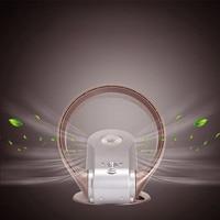 Холодный и теплый двойной использование leafless Электрический вентилятор домашний немой мини маленький рабочий стол посадка пульт дистанцио