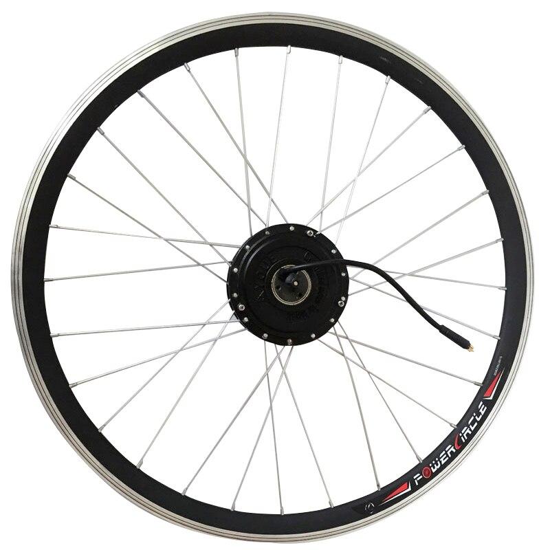 36 V 250 W 350 W 500 W roue de moteur de vélo électrique avec rayons de jante arrière sans brosse engrenage moyeu moteur 6/7 roue libre approprié V frein à disque