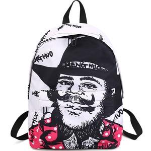 Image 2 - Menghuo Newest Women Backpacks 3D Printing Backpack Female Trendy Designer School Bags Teenagers Girls Men Travel Bag Mochilas