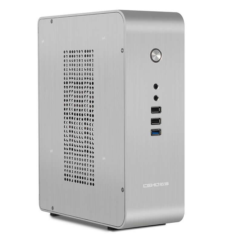HTPC ITX Mini case USB3.0 3.5'' HDD Support aluminum Chassis, CEMO 9000