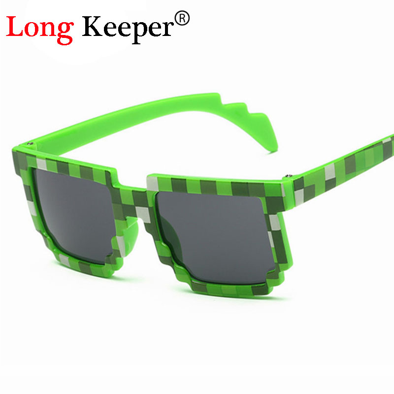 Long Keeper New Smaller Size Sunglasses for 4-12 Years Children Sun Glasses Mosaic Boys Girls Pixel Eyewares KIDS-87