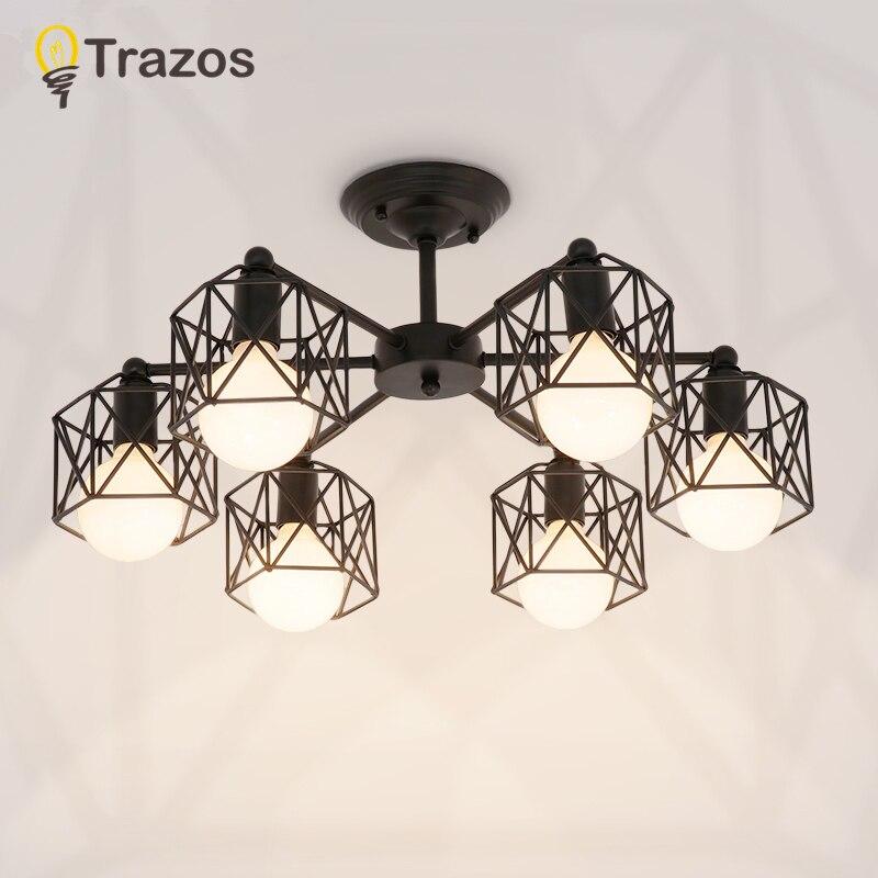 Vintage Kronleuchter Mehrere Stange Schmiedeeisen Decken Lampe E27 Birne Wohnzimmer Lamparas für Home Beleuchtung Leuchten