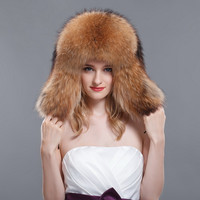 Winter warm hat fur hat raccoon fox lei feng cap general lovers cap snow cap