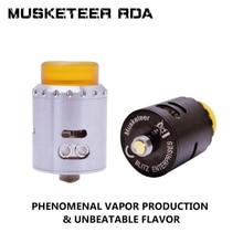 Musketeer RDA Atomizer Electronic Cigarette DIY Rebuildable Vapozier 810 Drip Tip Vape RDA Atomizer
