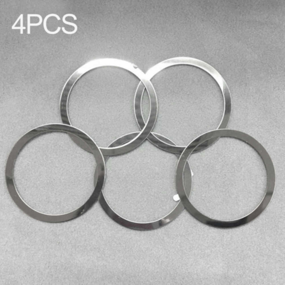 4Pcs For Magnetic QI Charger Metal Ring Car Mount Easy Apply Mini Holder Air Vent Portable Wireless Professional Practical Round