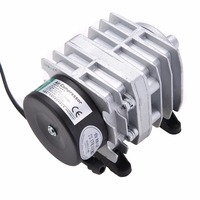 1pc 45L Min 25W Aquarium Air Pump Electromagnetic Oxygen Pond Air Compressor Aerator