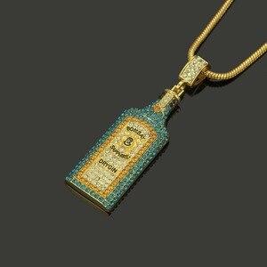 Image 4 - Collares grandes con diamantes de imitación para botella de vino, colgantes, estilo Hip Hop, Color dorado, para hombres y mujeres