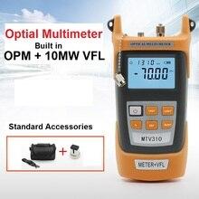 All-in-one Fibra medidor de potencia óptica-70 a + $ number dbm y 10 mw 10 km de Cable de Fibra Óptica Visual Fault Locator Tester