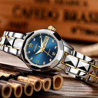 Ladies Watch JSDUN High Quality Fashion Mechanical Female Wrist watch Stainless Steel Luxury women Rose Gold Watch 2017