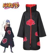 2019 New Fashion  Anime Naruto Akatsuki Uchiha Itachi Cosplay Black Cloak Costumes For Adult Comic Clothes Headband Kids Robe