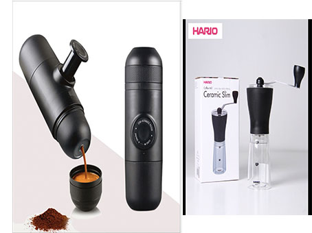 Mini epsrresso coffee maker+manua burr coffee grinder high quality authentic famous polo golf double clothing bag men travel golf shoes bag custom handbag large capacity45 26 34 cm