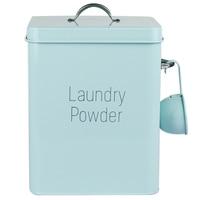 Beautiful Powder Coating Metal Zinc Laundry Powder Boxes Storage With Scoop
