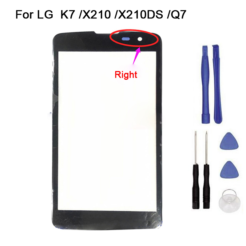 New Touch screen For <font><b>LG</b></font> <font><b>K7</b></font> Q7 X210 <font><b>X210DS</b></font> Front <font><b>Glass</b></font> touch Screen Digitizer Front <font><b>Glass</b></font> Touch Panel Replacement + tool image