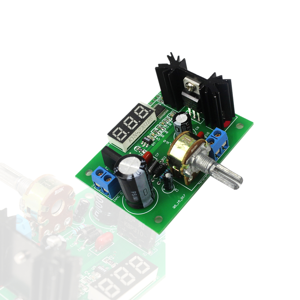 DC 1.25V-28V LM317 AC/DC Continuously Adjustable Voltage Regulator Step-down Power Supply Module with LED Display