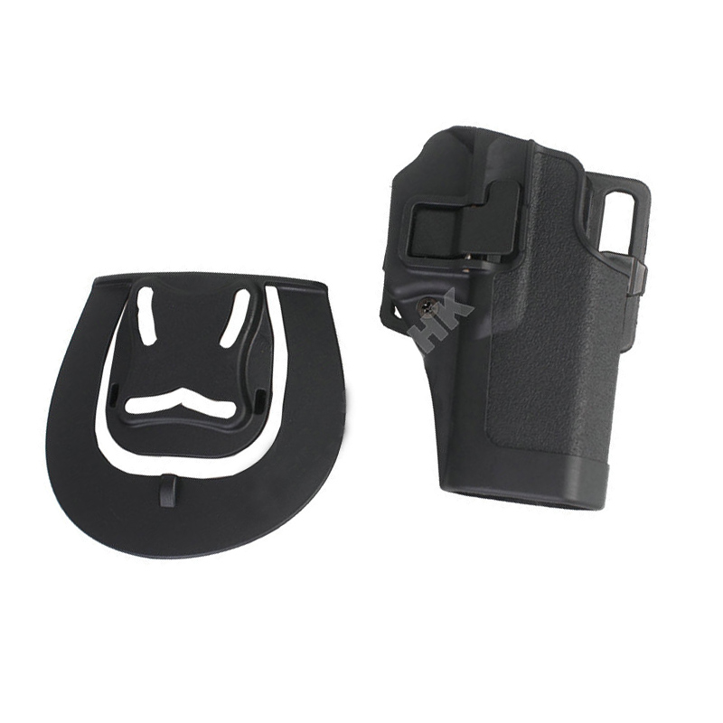 Tactical Military CQC Airsoft Quick Draw Right Hand Gun Holster W/ Paddle Waist Belt For Glock 17 18 19 23 26 32