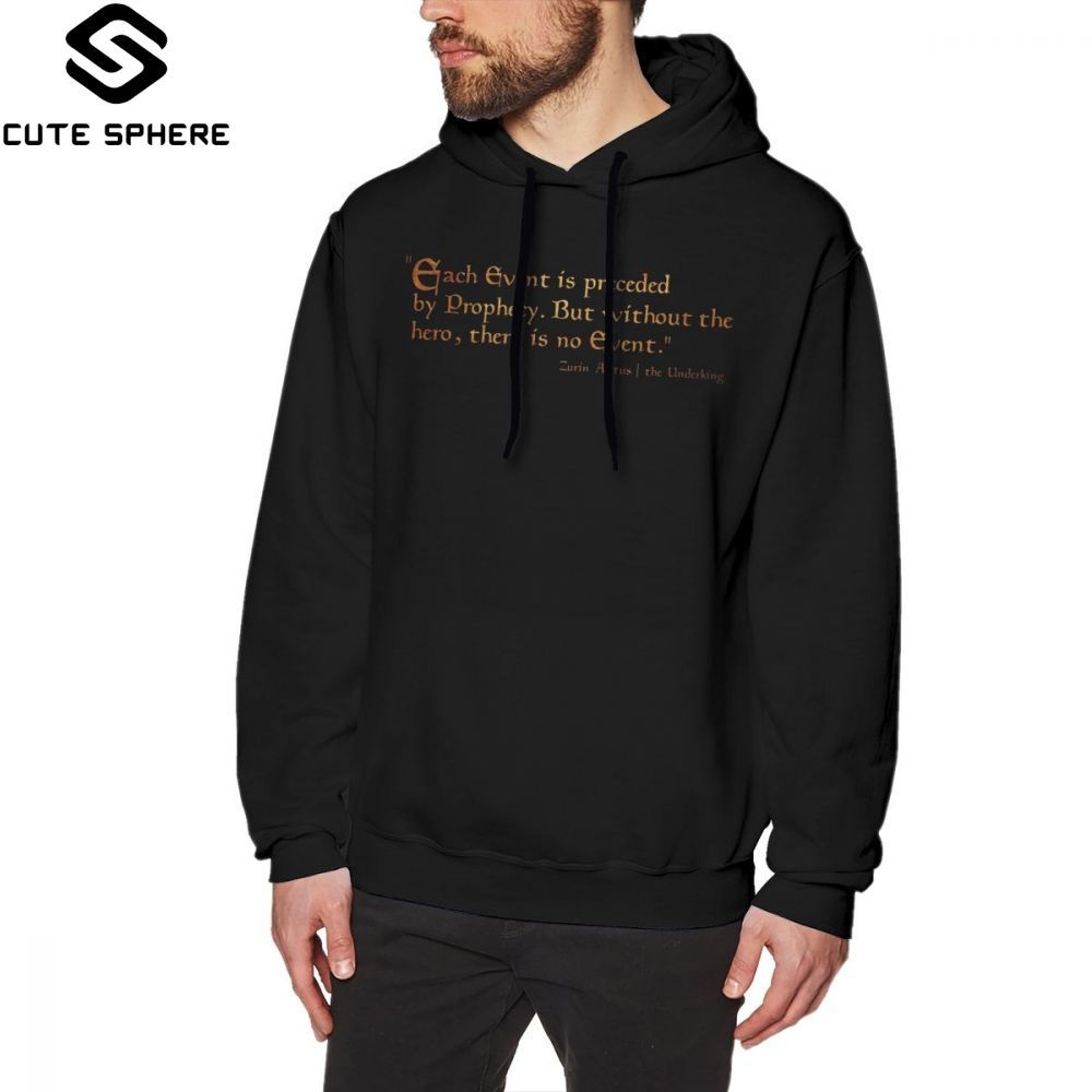 Morrowind Hoodie Morrowind Propehcy Hoodies Cotton Long Length Pullover Hoodie Cool Red Autumn Outdoor Big Men Hoodies