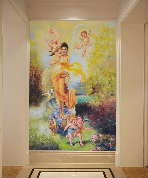 3d room wallpaper custom mural non-woven Wall sticker Classic fairy paintings angel porch painting photo wallpaper for walls 3d 3d room wallpaper custom mural non woven 3 d european angel figure looking down ceiling mural photo wallpaper for walls 3d