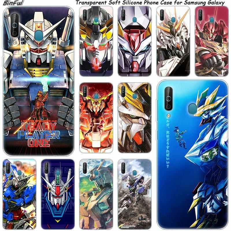 Hot Gundam Anime Silicone Phone Case For Samsung Galaxy A80 A70 A60 A50 A40 A40S A30 A20E A2CORE M40 M30 M20 Note 9 8 5 Fashion