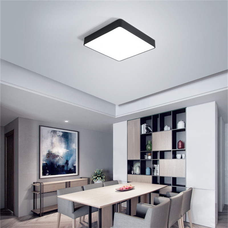 Living Room Led Lighting Mirrors For Walls Modern Square Ceiling Light Bedroom Kitchen Balcony Decorate Plafon With Remote Controller In Lights From