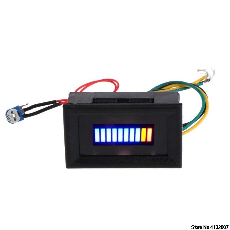 Indicador de nivel de combustible 12V medidor Universal de la escala de aceite del coche de la motocicleta LED 828 de aceite promoción