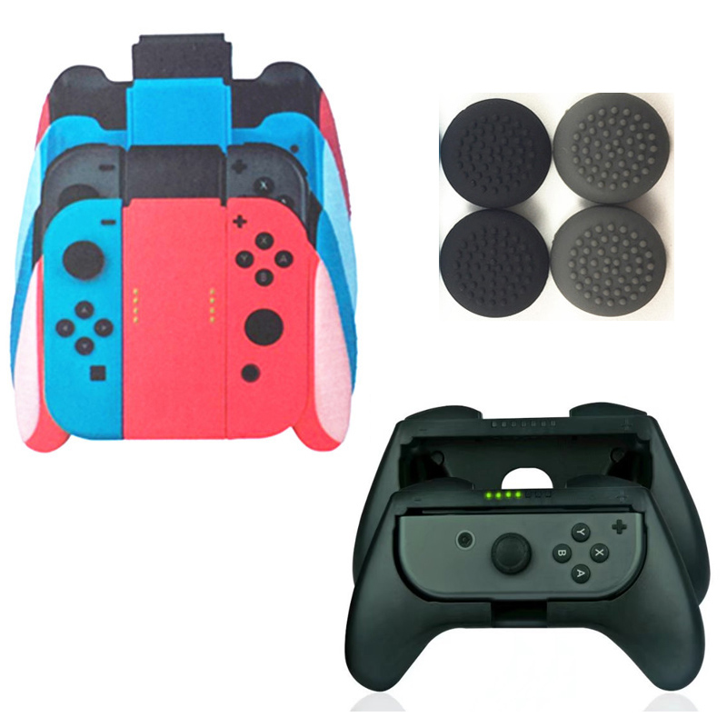 Dual Use 3 in 1 Switch Joy-Con hand grip Handle Bracket Support Cradle Holder Handheld for Nintendo Nintend Switch NS Controller