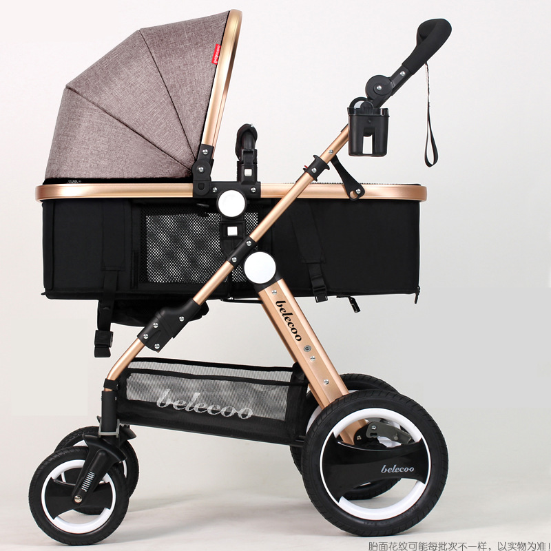 High Landscape Sit and Lie Prams For Newborn Shockproof Baby Stroller bebek arabasi Children Pushchair Infant Carriage carrinho