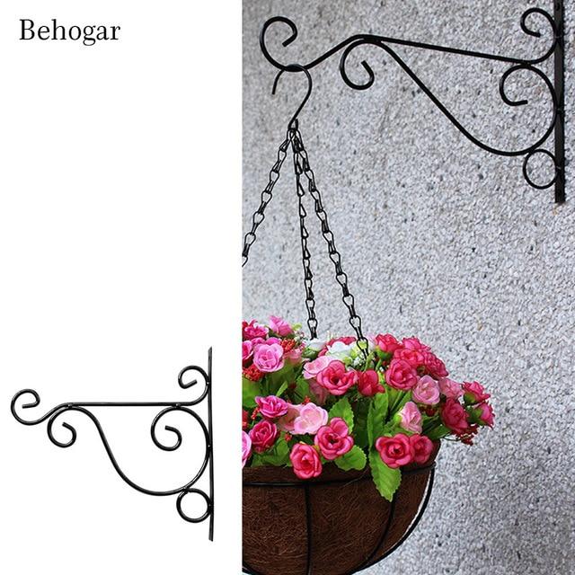 Behogar Metal Plant Hanger Bracket Wall Hanging Plants Hook For Garden Planters Birdcage Lantern Flower Pot