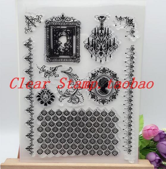DIY Scrapbooking Albums Stamp Scrapbook Album PDA Seal Transparent DIY Retro Leas Seal Lamps Stamp Clear Stamps Timbres Clair