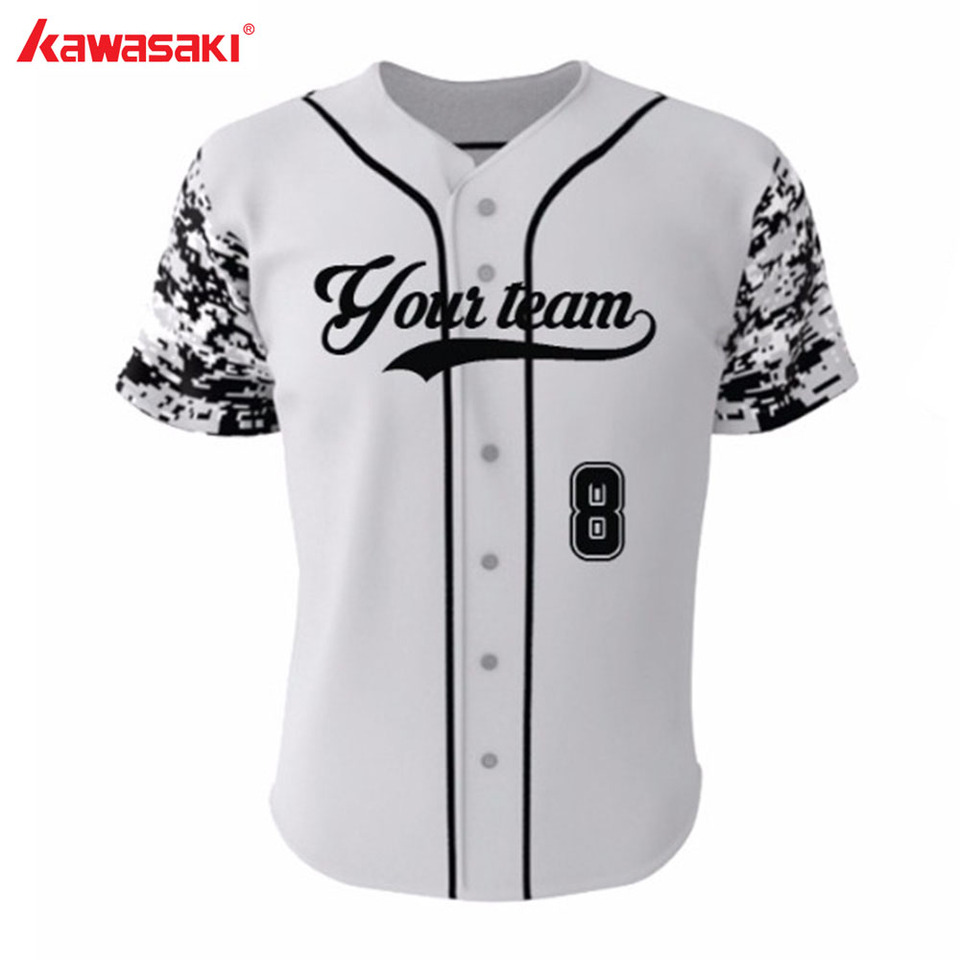 Mens Baseball Jersey Exercise Shirt