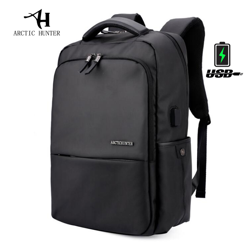 "Arctic Hunter 15.6"" Laptop Men Backpack Black Male Waterproof Mochilas With Gift Casual Travel Backpack Usb Charge Large Bagpack"