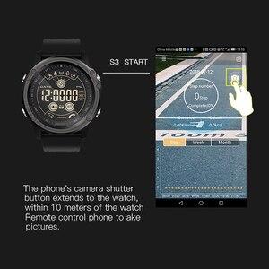 Image 4 - SENBONO مقياس المرور الرياضة المقتفي ساعة توقيت ساعة ذكية 5ATM مقاوم للماء التحكم عن بعد جهاز تذكير بالرسائل القصيرة والمكالمات الرجال معصمه